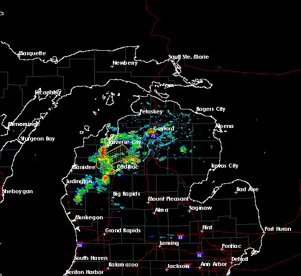 Radar Image for Severe Thunderstorms near South Boardman, MI at 5/26/2020 3:41 PM EDT