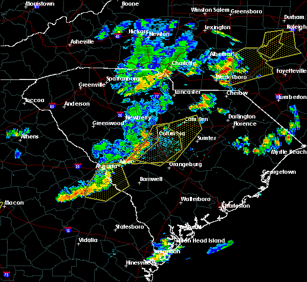 Radar Image for Severe Thunderstorms near Camden, SC at 6/27/2015 6:17 PM EDT