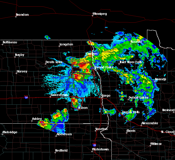 Radar Image for Severe Thunderstorms near Inkster, ND at 6/27/2015 5:24 PM CDT