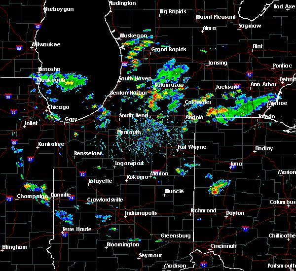 Radar Image for Severe Thunderstorms near Centreville, MI at 5/26/2020 6:08 PM EDT