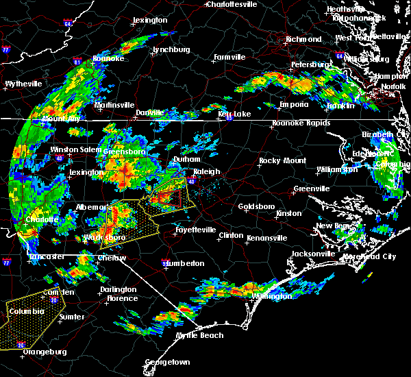 Radar Image for Severe Thunderstorms near Moncure, NC at 6/27/2015 6:26 PM EDT
