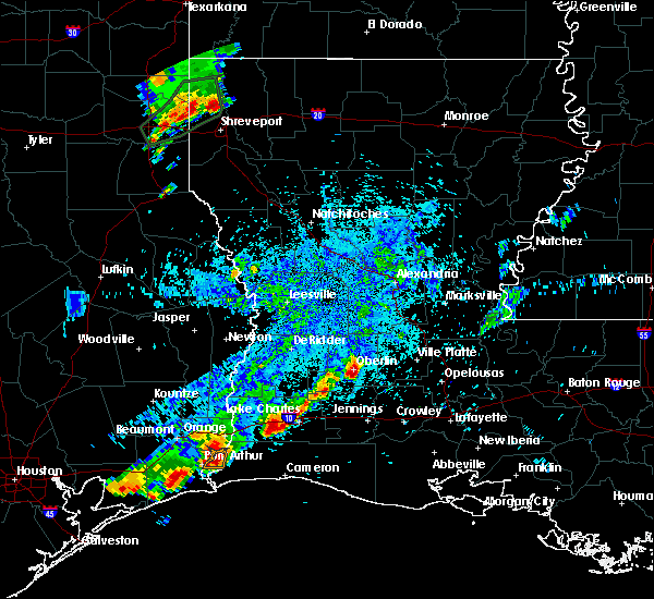 Radar Image for Severe Thunderstorms near Oberlin, LA at 5/26/2020 8:46 PM CDT