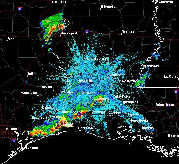 Radar Image for Severe Thunderstorms near Oberlin, LA at 5/26/2020 9:05 PM CDT