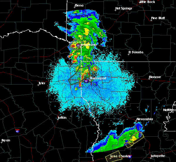 Radar Image for Severe Thunderstorms near Texarkana, TX at 5/26/2020 9:29 PM CDT