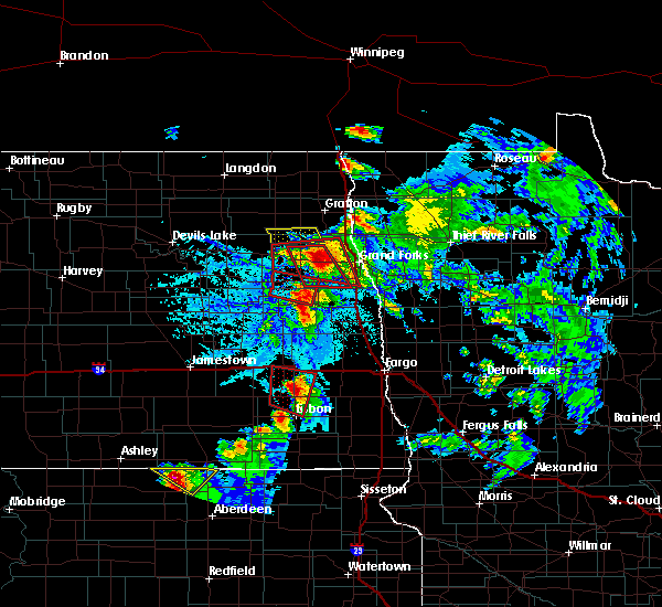 Radar Image for Severe Thunderstorms near Larimore, ND at 6/27/2015 5:30 PM CDT