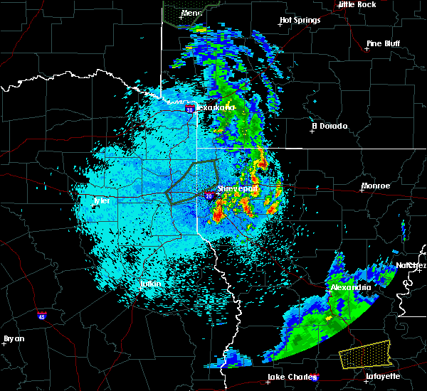 Radar Image for Severe Thunderstorms near Homer, LA at 5/26/2020 11:18 PM CDT