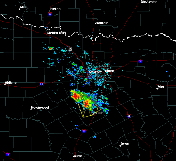 Radar Image for Severe Thunderstorms near Crawford, TX at 5/27/2020 11:41 AM CDT