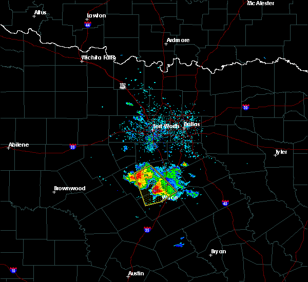 Radar Image for Severe Thunderstorms near Crawford, TX at 5/27/2020 11:58 AM CDT