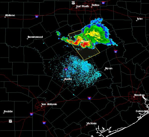 Radar Image for Severe Thunderstorms near McGregor, TX at 5/27/2020 12:37 PM CDT
