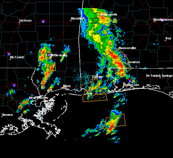 Radar Image for Severe Thunderstorms near Monroeville, AL at 5/27/2020 12:53 PM CDT