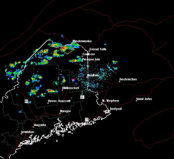 Radar Image for Severe Thunderstorms near Eagle Lake, ME at 5/27/2020 2:19 PM EDT