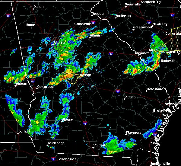 Radar Image for Severe Thunderstorms near Macon, GA at 6/27/2015 6:38 PM EDT