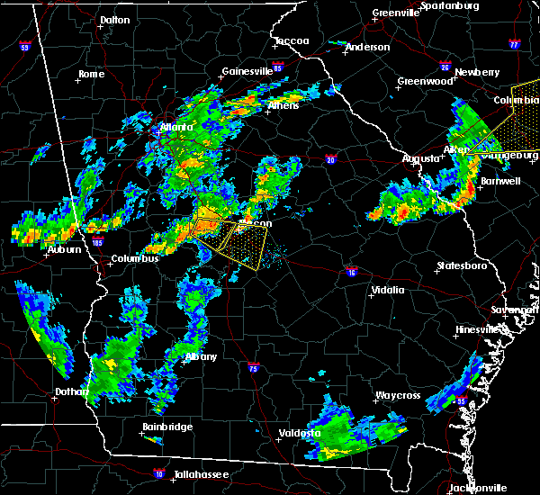 Radar Image for Severe Thunderstorms near Centerville, GA at 6/27/2015 6:40 PM EDT