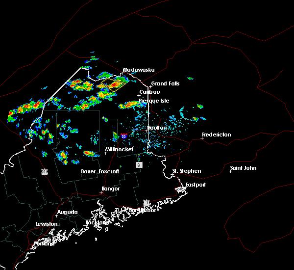Radar Image for Severe Thunderstorms near Eagle Lake, ME at 5/27/2020 2:47 PM EDT