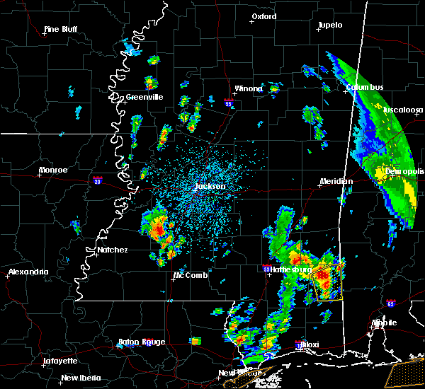 Radar Image for Severe Thunderstorms near Crystal Springs, MS at 5/27/2020 2:12 PM CDT