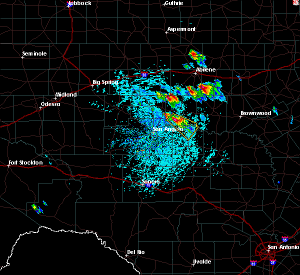 Radar Image for Severe Thunderstorms near Ballinger, TX at 5/27/2020 3:08 PM CDT