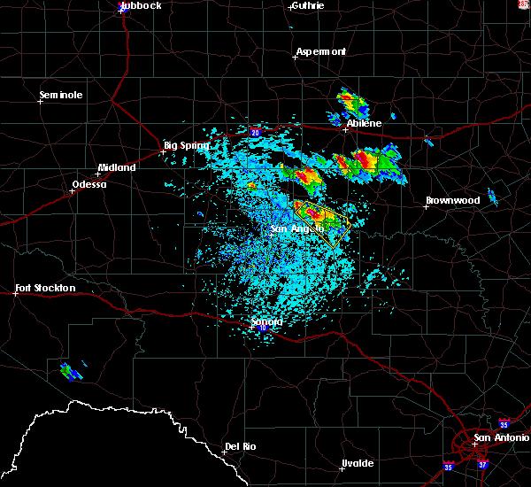 Radar Image for Severe Thunderstorms near Ballinger, TX at 5/27/2020 3:17 PM CDT