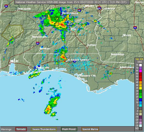 Radar Image for Severe Thunderstorms near Ponce de Leon, FL at 5/27/2020 3:27 PM CDT