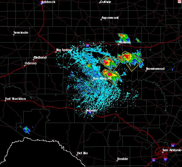 Radar Image for Severe Thunderstorms near Ballinger, TX at 5/27/2020 3:28 PM CDT