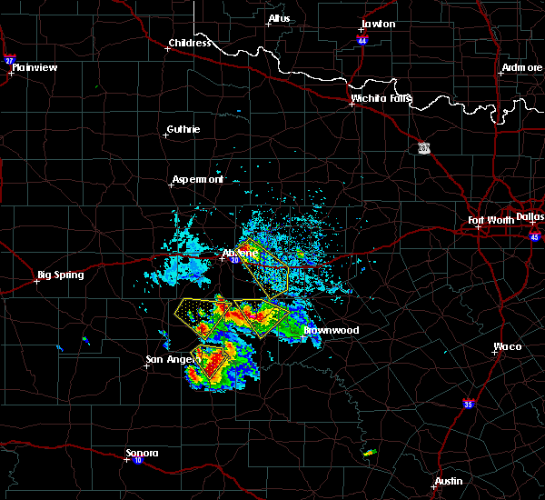 Radar Image for Severe Thunderstorms near Baird, TX at 5/27/2020 3:53 PM CDT