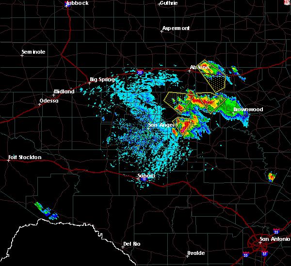 Radar Image for Severe Thunderstorms near Eden, TX at 5/27/2020 3:58 PM CDT