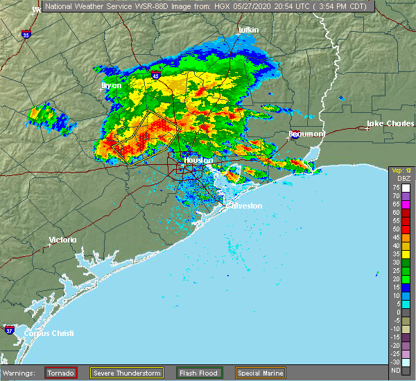 Radar Image for Severe Thunderstorms near Pecan Grove, TX at 5/27/2020 3:57 PM CDT