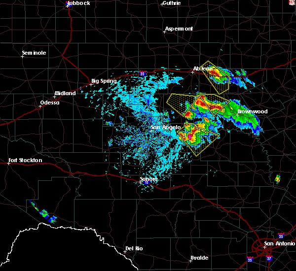 Radar Image for Severe Thunderstorms near Santa Anna, TX at 5/27/2020 4:07 PM CDT