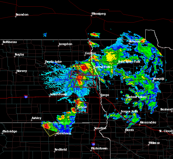 Radar Image for Severe Thunderstorms near Larimore, ND at 6/27/2015 5:50 PM CDT