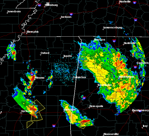 Radar Image for Severe Thunderstorms near Winona, MS at 5/27/2020 4:12 PM CDT