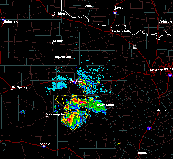 Radar Image for Severe Thunderstorms near Baird, TX at 5/27/2020 4:12 PM CDT