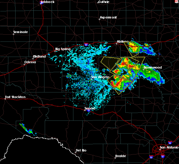 Radar Image for Severe Thunderstorms near Santa Anna, TX at 5/27/2020 4:18 PM CDT