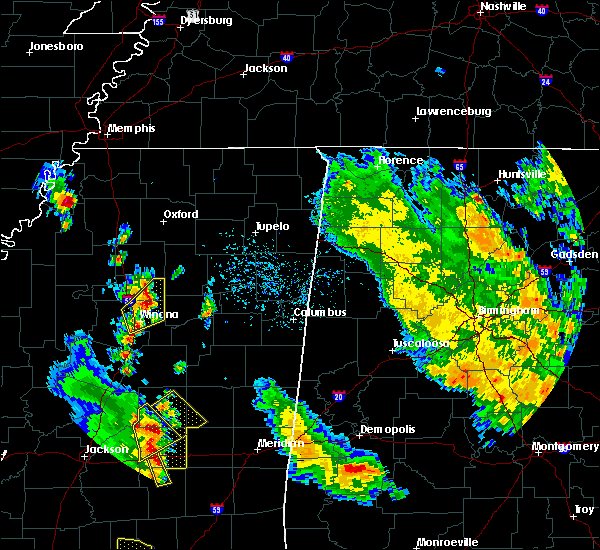 Radar Image for Severe Thunderstorms near Winona, MS at 5/27/2020 4:38 PM CDT