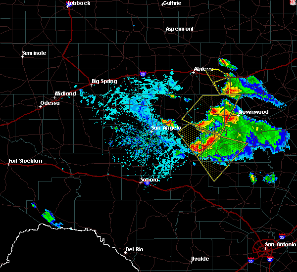 Radar Image for Severe Thunderstorms near Richland Springs, TX at 5/27/2020 4:42 PM CDT