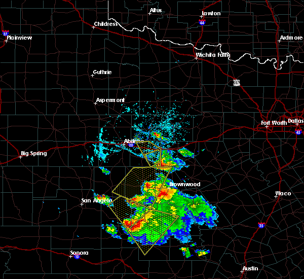 Radar Image for Severe Thunderstorms near Santa Anna, TX at 5/27/2020 4:46 PM CDT