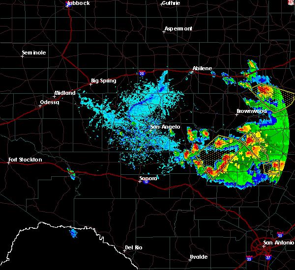 Radar Image for Severe Thunderstorms near Mason, TX at 5/27/2020 5:45 PM CDT