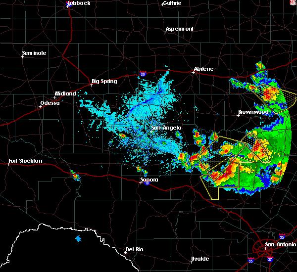 Radar Image for Severe Thunderstorms near Mason, TX at 5/27/2020 5:49 PM CDT