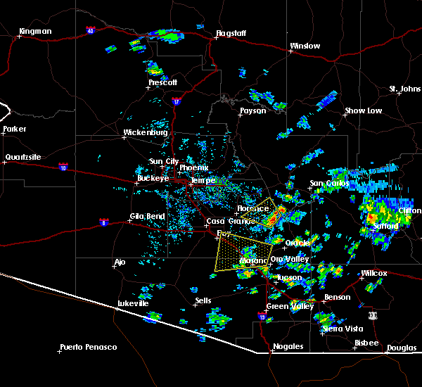 Radar Image for Severe Thunderstorms near Marana, AZ at 6/27/2015 3:58 PM MST