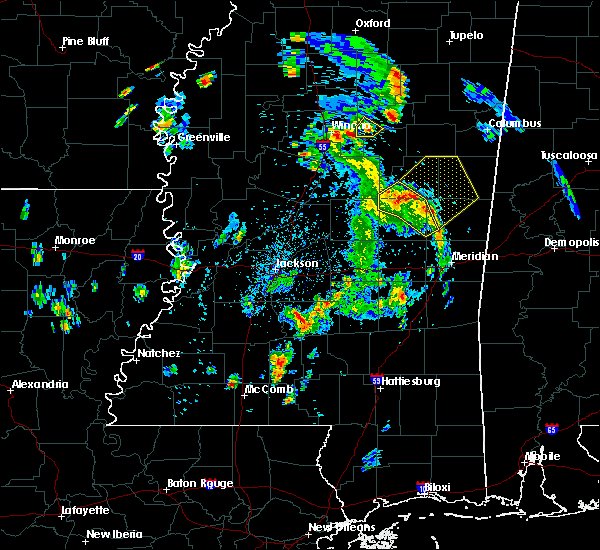 Radar Image for Severe Thunderstorms near Noxapater, MS at 5/27/2020 6:24 PM CDT
