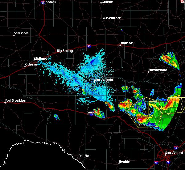 Radar Image for Severe Thunderstorms near Mason, TX at 5/27/2020 6:25 PM CDT