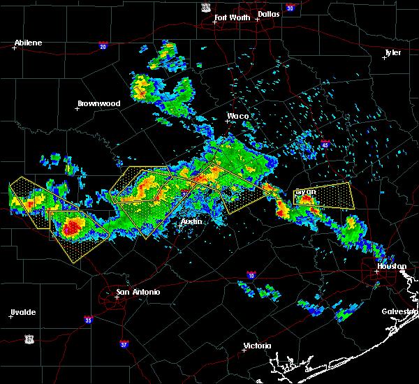 Radar Image for Severe Thunderstorms near Somerville, TX at 5/27/2020 6:58 PM CDT