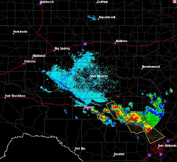 Radar Image for Severe Thunderstorms near Junction, TX at 5/27/2020 7:37 PM CDT