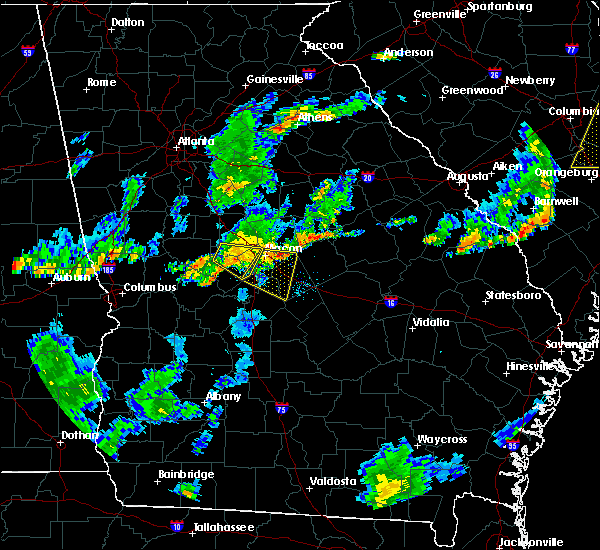 Radar Image for Severe Thunderstorms near Macon, GA at 6/27/2015 7:01 PM EDT