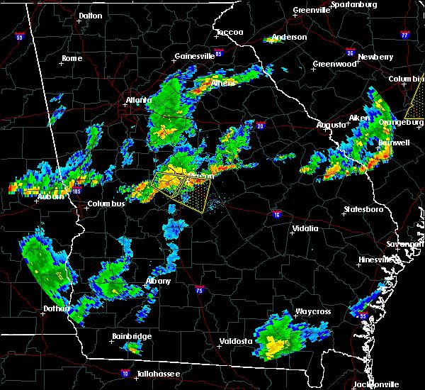 Radar Image for Severe Thunderstorms near Macon, GA at 6/27/2015 7:01 PM EDT