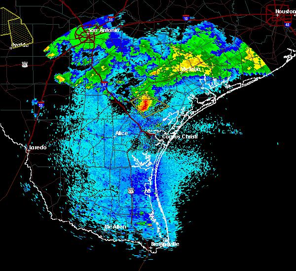 Radar Image for Severe Thunderstorms near Skidmore, TX at 5/28/2020 12:22 AM CDT