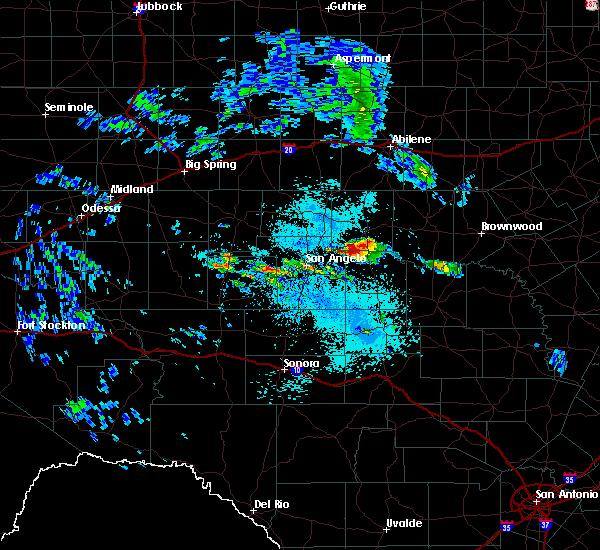 Radar Image for Severe Thunderstorms near Eden, TX at 5/28/2020 12:59 PM CDT