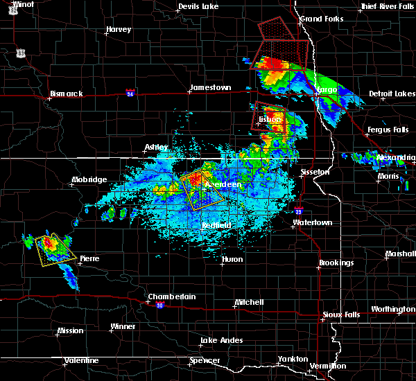 Radar Image for Severe Thunderstorms near Westport, SD at 6/27/2015 6:03 PM CDT