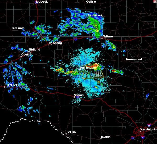 Radar Image for Severe Thunderstorms near Eden, TX at 5/28/2020 1:10 PM CDT