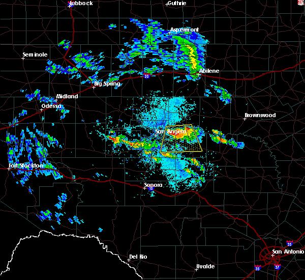 Radar Image for Severe Thunderstorms near Eden, TX at 5/28/2020 1:20 PM CDT