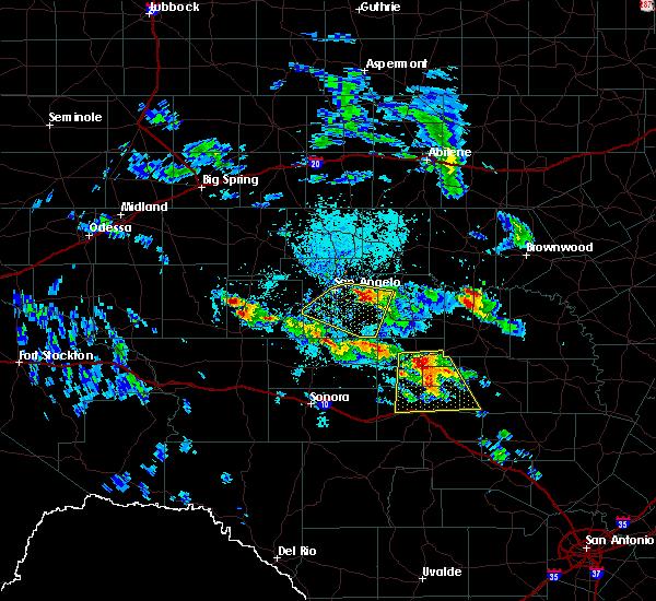 Radar Image for Severe Thunderstorms near Menard, TX at 5/28/2020 1:51 PM CDT
