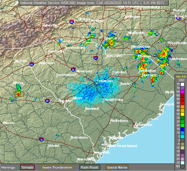 Radar Image for Severe Thunderstorms near Fairview, NC at 5/28/2020 3:33 PM EDT